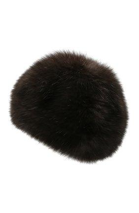 Женский берет из меха соболя KUSSENKOVV темно-коричневого цвета, арт. 13550004008 | Фото 2