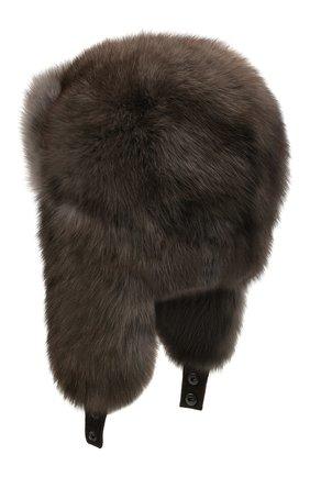 Женская шапка-ушанка из меха соболя KUSSENKOVV темно-серого цвета, арт. 93400036097 | Фото 2