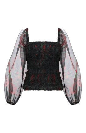 Женский топ GANNI черного цвета, арт. F5697 | Фото 1