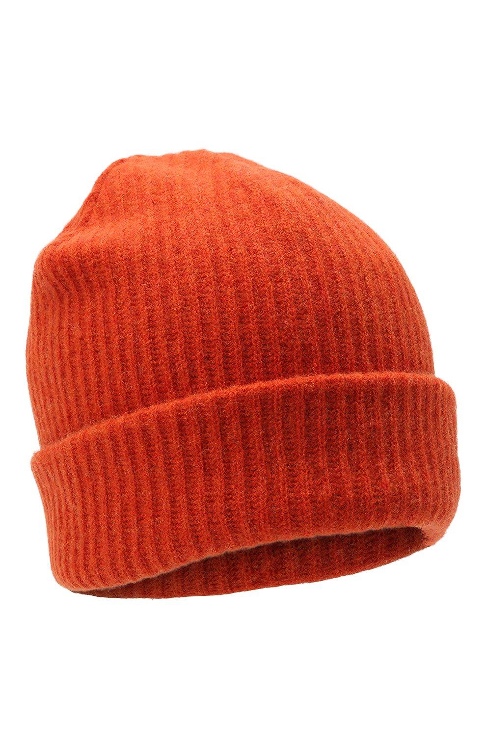 Женская шерстяная шапка GANNI оранжевого цвета, арт. A3222 | Фото 1