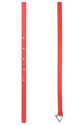 Женский кожаный ремень BOTTEGA VENETA красного цвета, арт. 619759/VMAU1 | Фото 2 (Материал: Кожа)