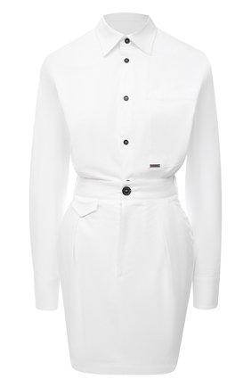 Женское хлопковое платье DSQUARED2 белого цвета, арт. S75CV0360/S35175 | Фото 1