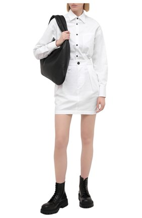 Женское хлопковое платье DSQUARED2 белого цвета, арт. S75CV0360/S35175 | Фото 2
