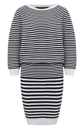 Женское хлопковое платье DSQUARED2 черно-белого цвета, арт. S75CV0370/S17608 | Фото 1