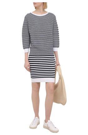 Женское хлопковое платье DSQUARED2 черно-белого цвета, арт. S75CV0370/S17608 | Фото 2