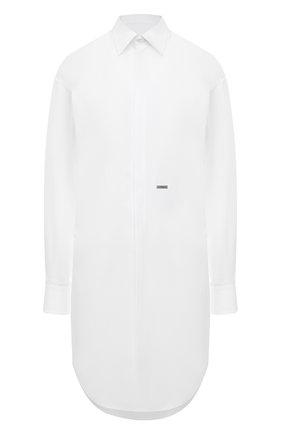 Женское хлопковое платье DSQUARED2 белого цвета, арт. S75CV0403/S36275 | Фото 1