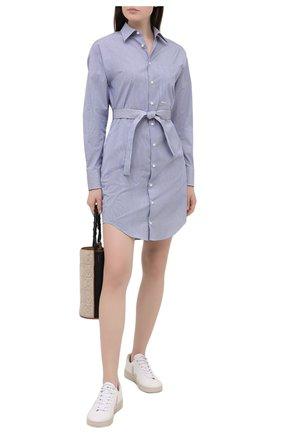 Женское хлопковое платье DSQUARED2 синего цвета, арт. S75CV0406/S53619 | Фото 2
