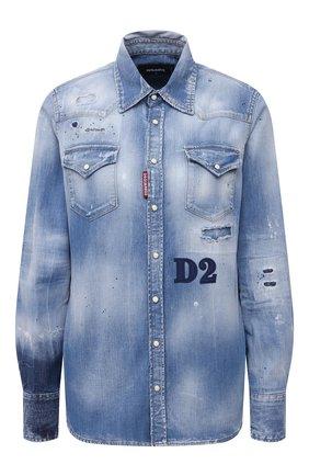 Женская джинсовая рубашка DSQUARED2 синего цвета, арт. S75DL0749/S30341 | Фото 1