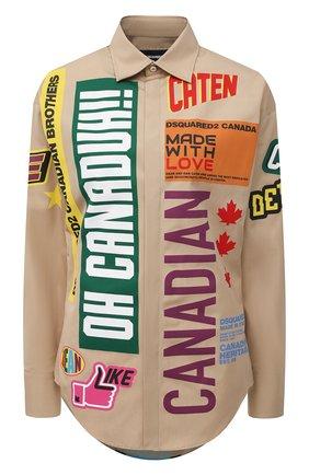 Женская хлопковая рубашка DSQUARED2 разноцветного цвета, арт. S75DL0756/S36275 | Фото 1