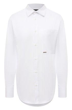 Женская хлопковая рубашка DSQUARED2 белого цвета, арт. S75DL0759/S36275 | Фото 1