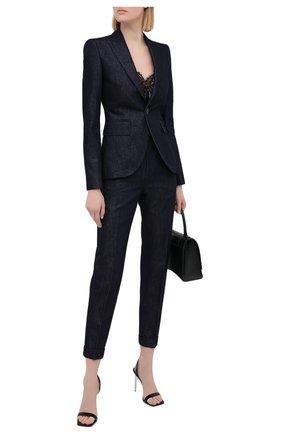 Женский костюм из хлопка и вискозы DSQUARED2 синего цвета, арт. S75FT0226/S30731 | Фото 1