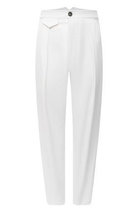 Женские хлопковые брюки DSQUARED2 белого цвета, арт. S75KB0190/S39021 | Фото 1