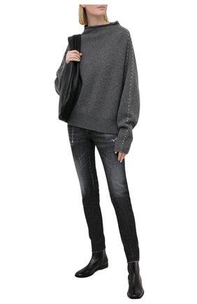 Женские джинсы DSQUARED2 черного цвета, арт. S75LB0432/S30357 | Фото 2