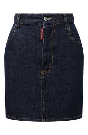 Женская джинсовая юбка DSQUARED2 синего цвета, арт. S75MA0791/S30595 | Фото 1