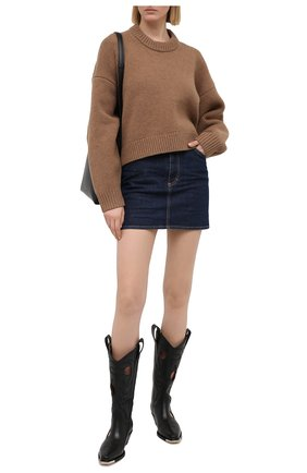 Женская джинсовая юбка DSQUARED2 синего цвета, арт. S75MA0791/S30595 | Фото 2