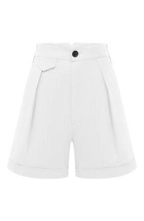 Женские хлопковые шорты DSQUARED2 белого цвета, арт. S75MU0366/S35175 | Фото 1