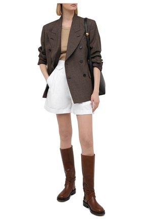 Женские хлопковые шорты DSQUARED2 белого цвета, арт. S75MU0366/S35175 | Фото 2