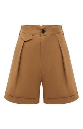 Женские хлопковые шорты DSQUARED2 хаки цвета, арт. S75MU0366/S35175 | Фото 1