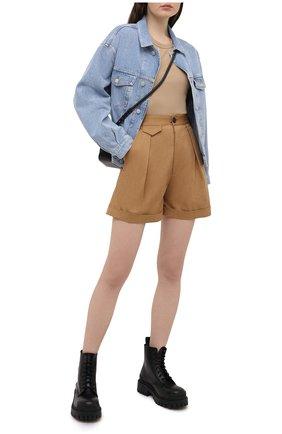 Женские хлопковые шорты DSQUARED2 хаки цвета, арт. S75MU0366/S35175 | Фото 2