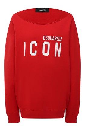 Женский хлопковый свитшот DSQUARED2 красного цвета, арт. S80GU0019/S25042 | Фото 1