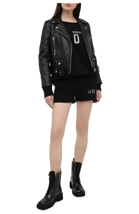 Женский хлопковый свитшот DSQUARED2 черного цвета, арт. S80GU0031/S25042 | Фото 2