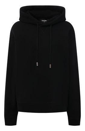Женский хлопковое худи DSQUARED2 черного цвета, арт. S80GU0032/S25042 | Фото 1
