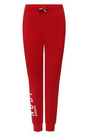 Женские хлопковые джоггеры DSQUARED2 красного цвета, арт. S80KA0001/S25042 | Фото 1