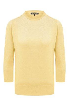 Женский кашемировый пуловер LORO PIANA желтого цвета, арт. FAI4920 | Фото 1