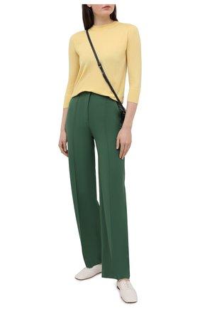 Женский кашемировый пуловер LORO PIANA желтого цвета, арт. FAI4920 | Фото 2