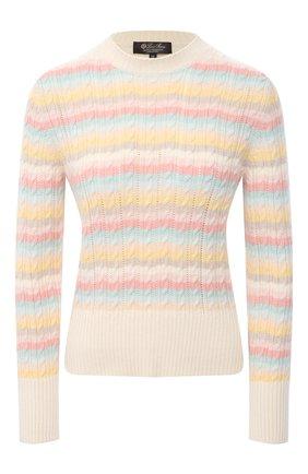 Женский кашемировый пуловер LORO PIANA разноцветного цвета, арт. FAL5039 | Фото 1