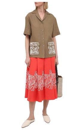 Женская льняная рубашка LORO PIANA коричневого цвета, арт. FAL6310 | Фото 2