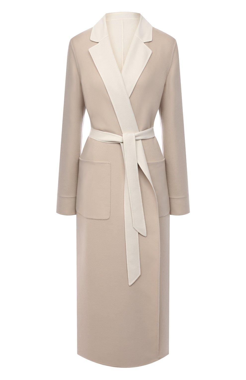 Женское кашемировое пальто LORO PIANA бежевого цвета, арт. FAI5340 | Фото 1