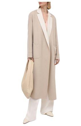 Женское кашемировое пальто LORO PIANA бежевого цвета, арт. FAI5340 | Фото 2