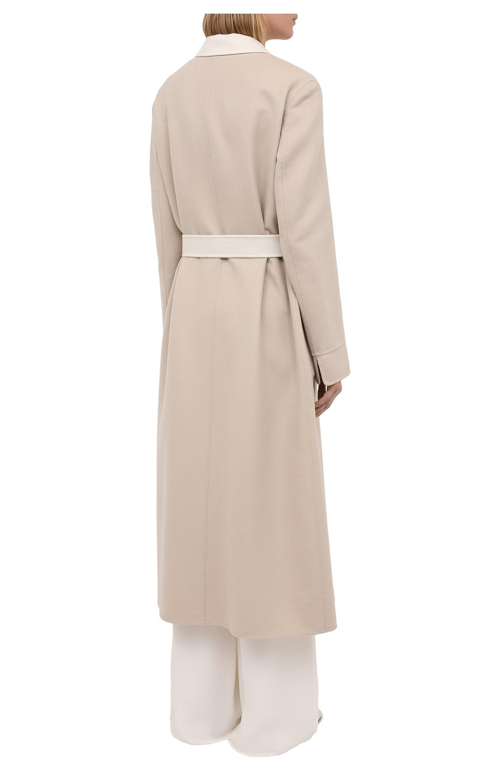Женское кашемировое пальто LORO PIANA бежевого цвета, арт. FAI5340 | Фото 4