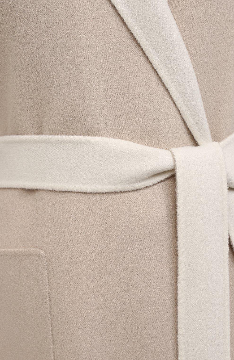 Женское кашемировое пальто LORO PIANA бежевого цвета, арт. FAI5340 | Фото 5