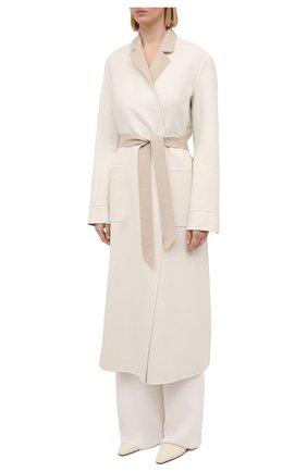 Женское кашемировое пальто LORO PIANA бежевого цвета, арт. FAI5340 | Фото 6