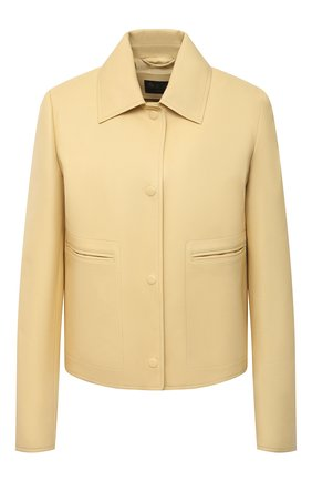 Женская кожаная куртка LORO PIANA желтого цвета, арт. FAL5450 | Фото 1