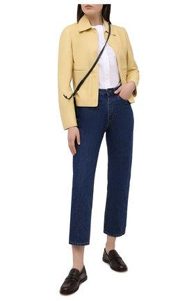 Женская кожаная куртка LORO PIANA желтого цвета, арт. FAL5450 | Фото 2