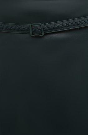 Женская кожаная юбка LORO PIANA темно-зеленого цвета, арт. FAL5455 | Фото 5