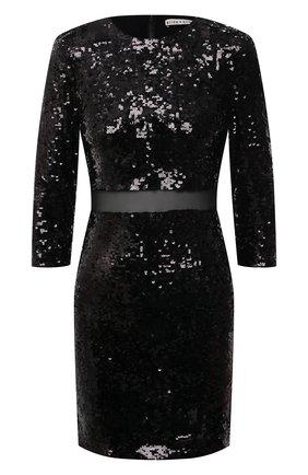 Женское платье с пайетками ALICE + OLIVIA черного цвета, арт. CC011E70525 | Фото 1