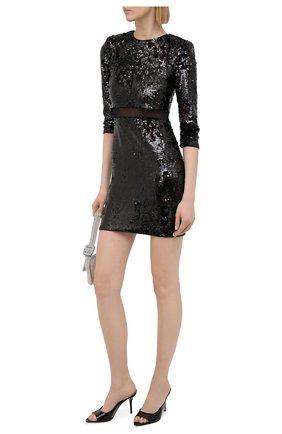 Женское платье с пайетками ALICE + OLIVIA черного цвета, арт. CC011E70525 | Фото 2
