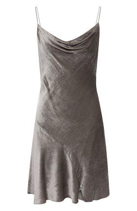 Женское платье из вискозы и шелка ALICE + OLIVIA серебряного цвета, арт. CC011B12520 | Фото 1