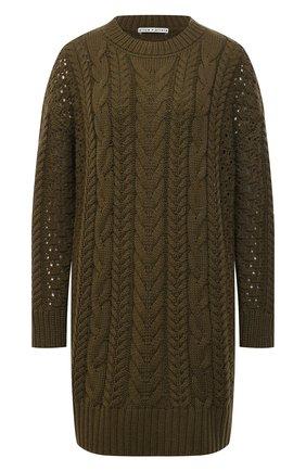Женское платье из шерсти и вискозы ALICE + OLIVIA хаки цвета, арт. CC011544702   Фото 1