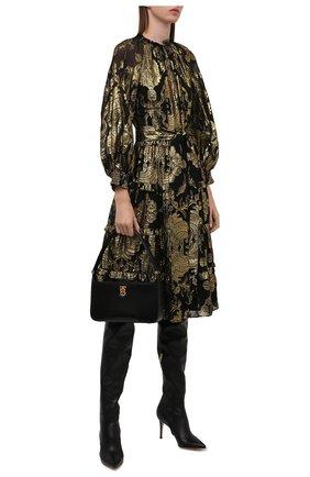 Женское шелковое платье ALICE + OLIVIA золотого цвета, арт. CC010T19504 | Фото 2