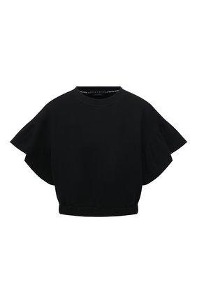 Женский хлопковый топ ALICE + OLIVIA черного цвета, арт. CL000W40006 | Фото 1