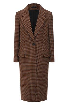 Женское пальто ALICE + OLIVIA коричневого цвета, арт. CL000R30401 | Фото 1