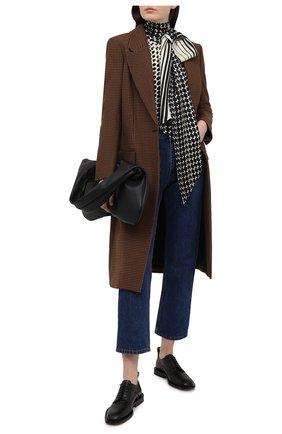Женское пальто ALICE + OLIVIA коричневого цвета, арт. CL000R30401 | Фото 2