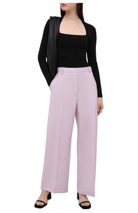 Женский пуловер из вискозы ALICE + OLIVIA черного цвета, арт. CL000513701 | Фото 2