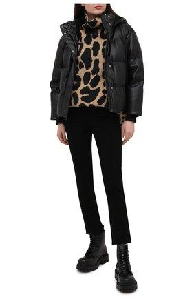 Женский пуховая куртка ALICE + OLIVIA черного цвета, арт. CC009J08407 | Фото 2