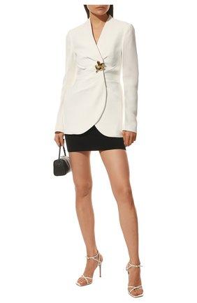 Женские кожаные босоножки georgina GIANVITO ROSSI белого цвета, арт. G31993.15RIC.VITBIAN | Фото 2